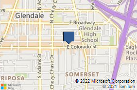Bing Map of 1321 E Colorado St Ste K Glendale, CA 91205