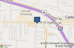 Bing Map of 1321 W Highway 50 O Fallon, IL 62269