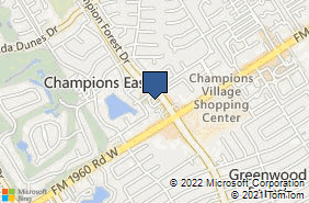 Bing Map of 13231 Champ Frst Dr Ste 206 Houston, TX 77069