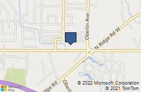 Bing Map of 1324 Cooper Foster Park Rd W Lorain, OH 44053