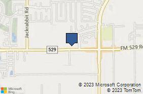 Bing Map of 13250 Fm 529 Rd Ste F Houston, TX 77041