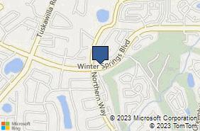 Bing Map of 1327 Winter Springs Blvd Winter Springs, FL 32708