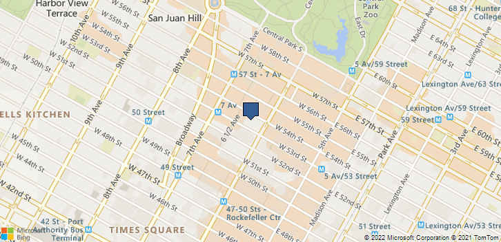 1335 Ave of the Americas Fl 5 New York, NY, 10019 Map