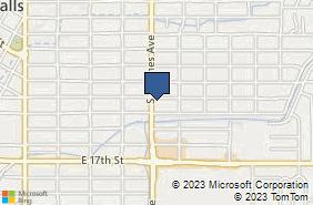 Bing Map of 1335 S Holmes Ave Idaho Falls, ID 83404