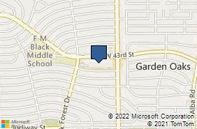 Bing Map of 1337 W 43rd St Ste C Houston, TX 77018