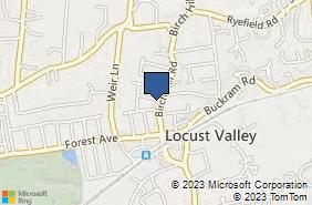 Bing Map of 135 Birch Hill Rd Locust Valley, NY 11560
