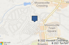 Bing Map of 136 Corporate Park Dr Ste J Mooresville, NC 28117