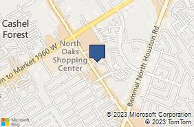 Bing Map of 13700 Veterans Mem Dr Ste 305 Houston, TX 77014