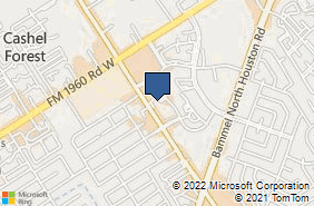 Bing Map of 13700 Veterans Mem Dr Ste 410 Houston, TX 77014