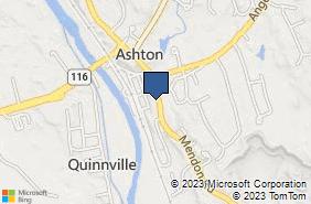 Bing Map of 1394-1396 Mendon Rd Cumberland, RI 02864