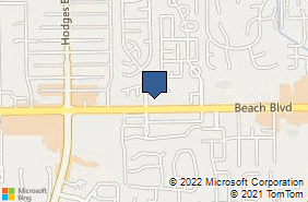 Bing Map of 13947 Beach Blvd Ste 206 Jacksonville, FL 32224