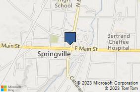 Bing Map of 14 N Buffalo St Springville, NY 14141