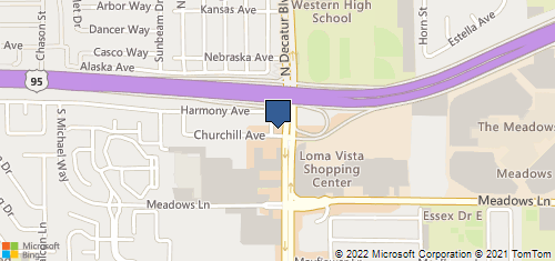Bing Map of 140 S Decatur Blvd Las Vegas, NV 89107