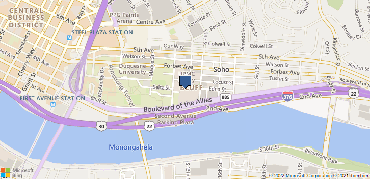 1400 Locust St Pittsburgh, PA, 15219 Map