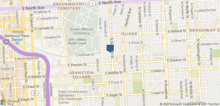 1400 N Aisquith St Baltimore, MD, 21202 Map