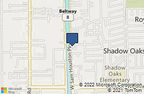 Bing Map of 1400 W Sam Hou Pkwy N Ste 130 Houston, TX 77043