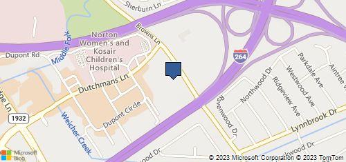 Bing Map of 1404 Browns Ln Ste D Louisville, KY 40207
