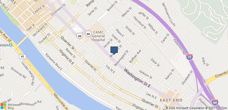 1406 Washington St E Charleston, WV, 25301 Map