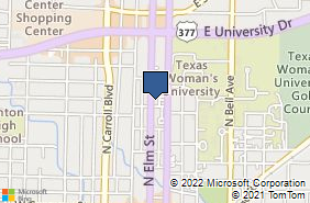 Bing Map of 1410 N Elm St Ste A Denton, TX 76201