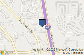 Bing Map of 14101 North Fwy Ste A Houston, TX 77090