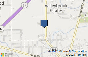 Bing Map of 1411 Scott St Napoleon, OH 43545
