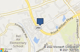 Bing Map of 14130 Noblewood Plz Ste 203 Woodbridge, VA 22193