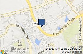 Bing Map of 14130 Noblewood Plz Ste 203 Woodbridge, VA 22193
