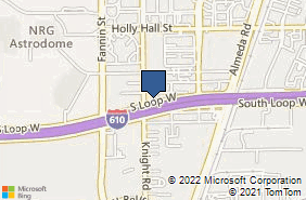 Bing Map of 1414 S Loop W Ste 140 Houston, TX 77054