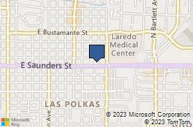 Bing Map of 1418 E Saunders St Ste 1 Laredo, TX 78041