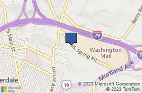 Bing Map of 142 Oak Spring Rd Washington, PA 15301