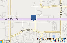 Bing Map of 14323 W 135th St Olathe, KS 66062