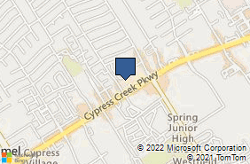 Bing Map of 1434 Cypress Creek Pkwy Ste D Houston, TX 77090