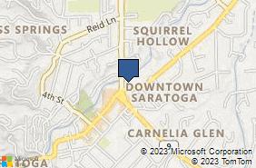 Bing Map of 14375 Saratoga Ave Ste 106 Saratoga, CA 95070