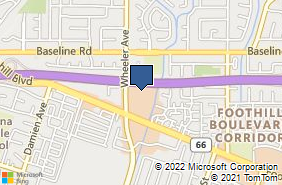 Bing Map of 1445 Foothill Blvd La Verne, CA 91750