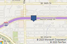 Bing Map of 1445 North Loop W Ste 190 Houston, TX 77008