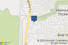 Bing Map of 14515 Briarhills Pkwy Ste 216 Houston, TX 77077
