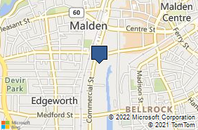 Bing Map of 146 Commercial St # S323 Malden, MA 02148