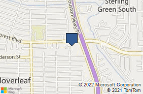 Bing Map of 14618 Woodforest Blvd Houston, TX 77015