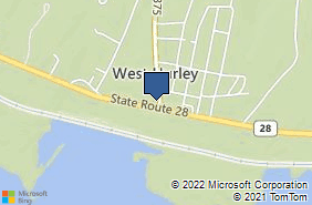 Bing Map of 1462 State Route 28 West Hurley, NY 12491