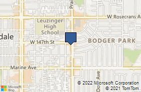 Bing Map of 14717 Prairie Ave Lawndale, CA 90260