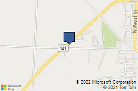 Bing Map of 14735 S Hwy 121 Trenton, TX 75490