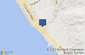 Bing Map of 1475 Glenneyre St Laguna Beach, CA 92651