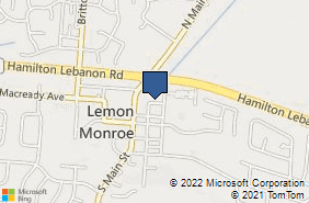 Bing Map of 15 East Ave Monroe, OH 45050