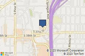 Bing Map of 15 Oregon Ave Ste 207 Tacoma, WA 98409
