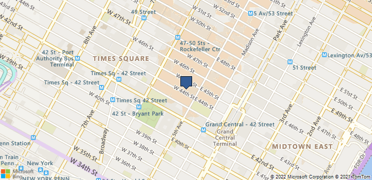 15 West 44th Street New York, NY, 10016 Map