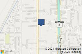 Bing Map of 1500 Brittmoore Rd Ste 301 Houston, TX 77043