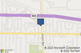 Bing Map of 1500 Union Rd West Seneca, NY 14224