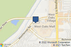 Bing Map of 15015 Westheimer Pkwy Ste D1 Houston, TX 77082