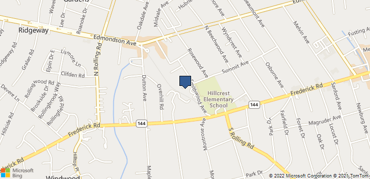 1502 Frederick Rd Catonsville, MD, 21228 Map