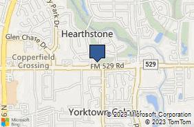 Bing Map of 15024 Fm 529 Rd Houston, TX 77095